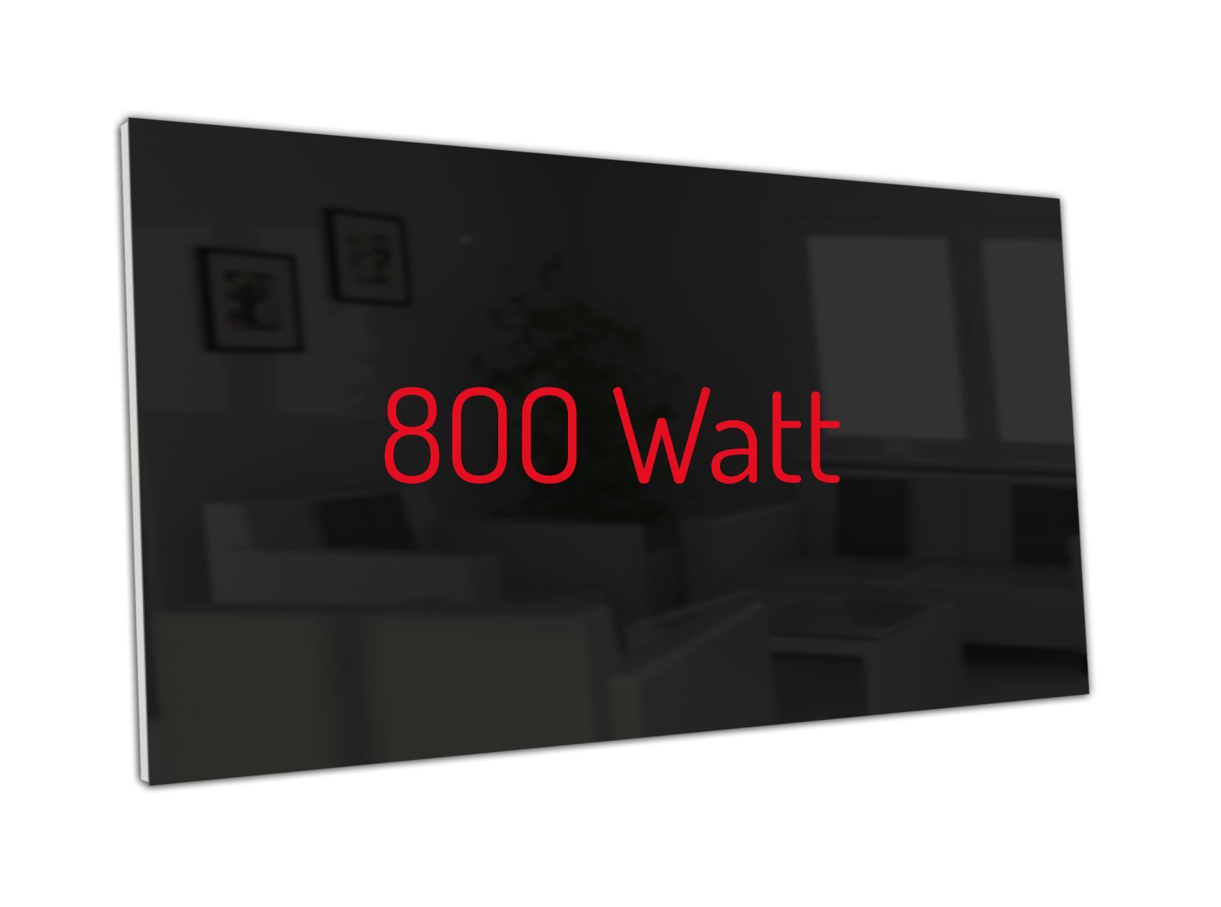 PowerSun Carboglas schwarz 800 Watt 60x120cm