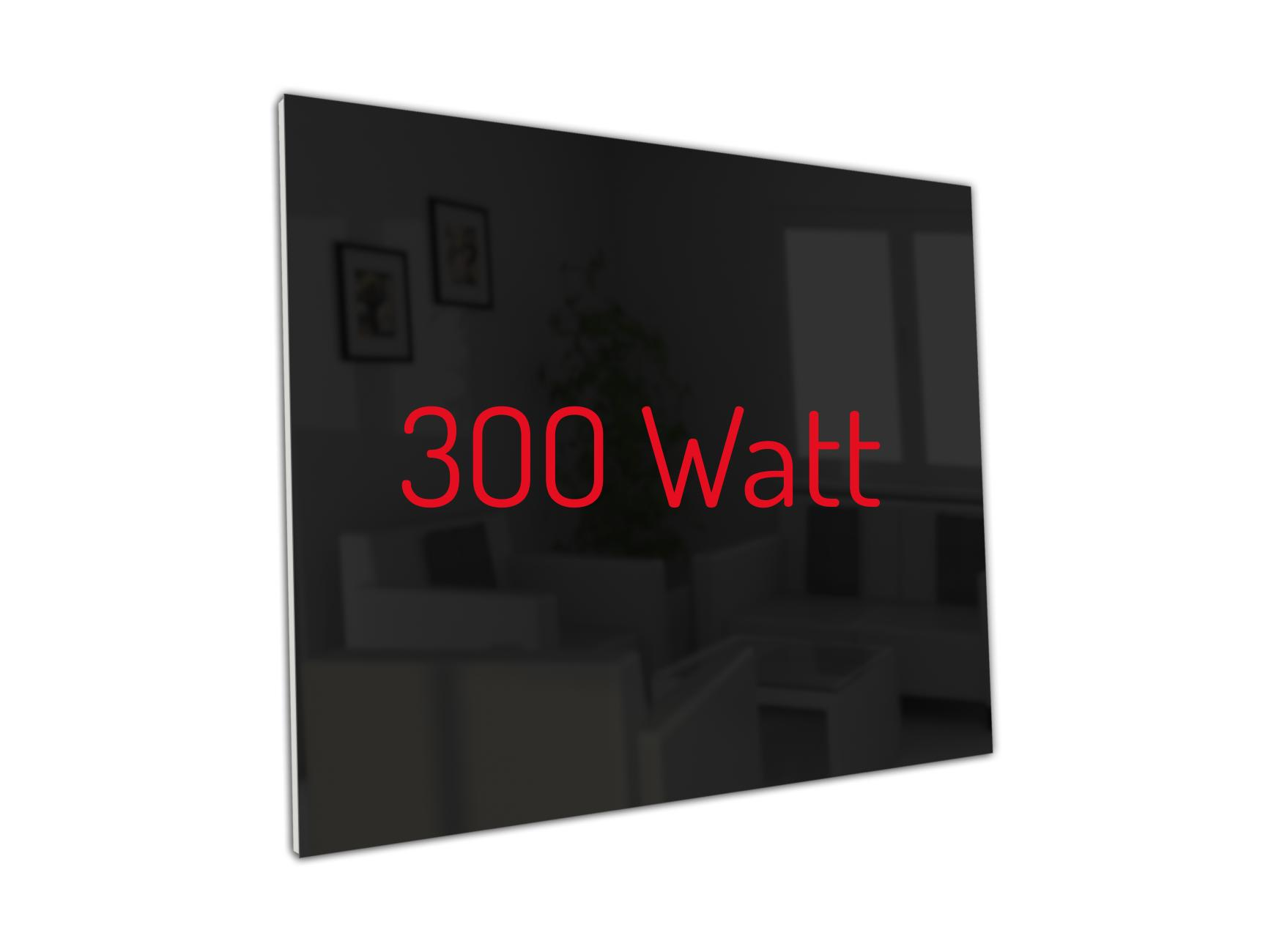 PowerSun Carboglas schwarz 300 Watt 60x60cm