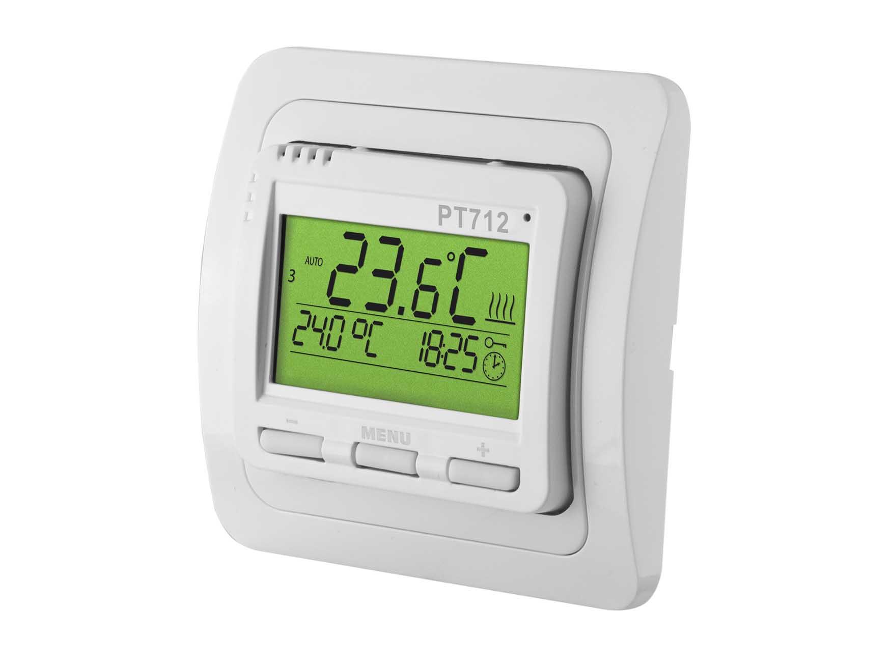Thermostat digital Unterputz programmierbar mit LCD-Anzeige