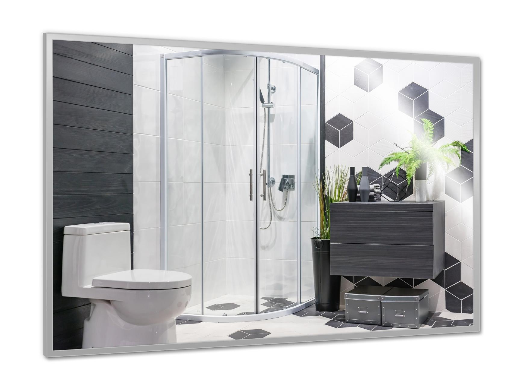 PowerSun Mirror mit Chrom-Rahmen 40x60cm