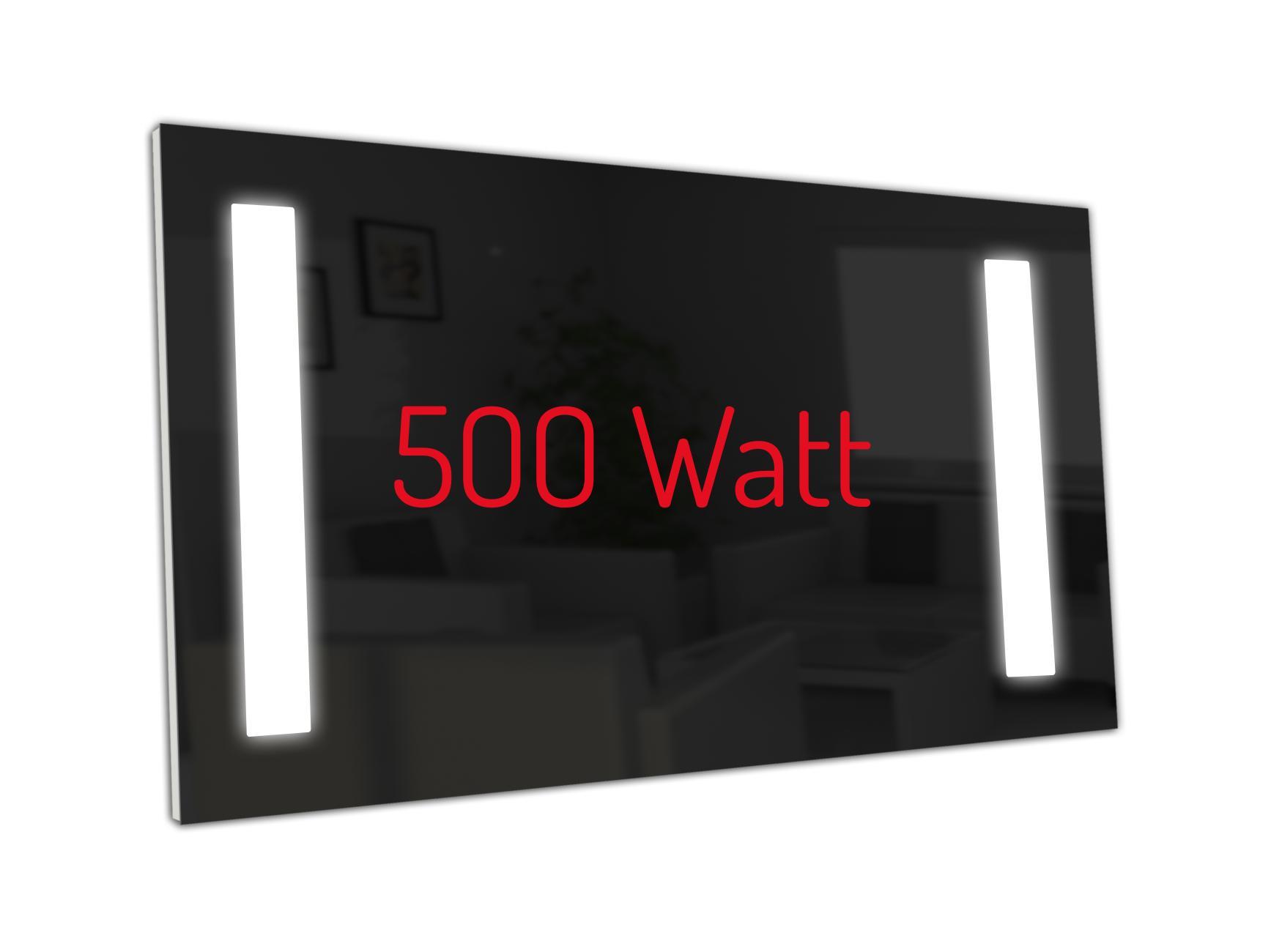 PowerSun Carboglas LED schwarz 500 Watt 60x110cm