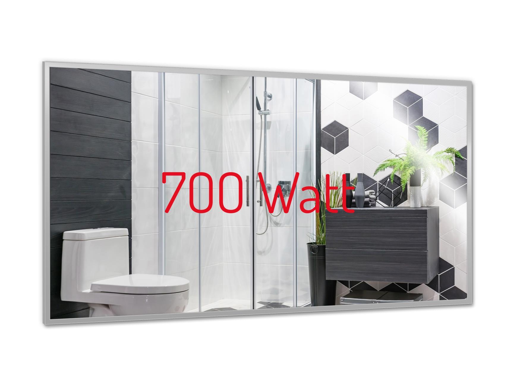 PowerSun Mirror mit Chrom-Rahmen 60x120cm