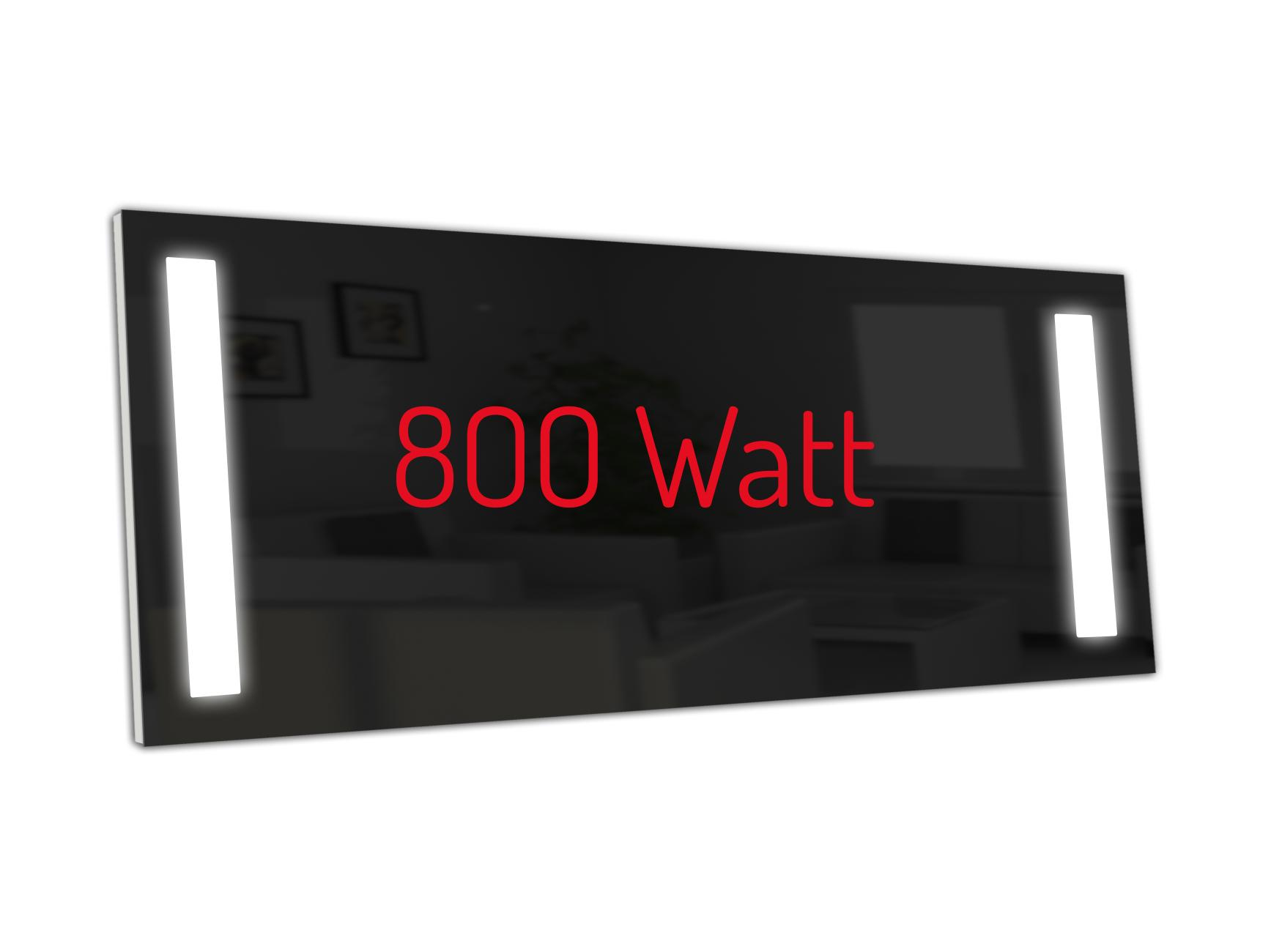 PowerSun Carboglas LED schwarz 800 Watt 60x140cm