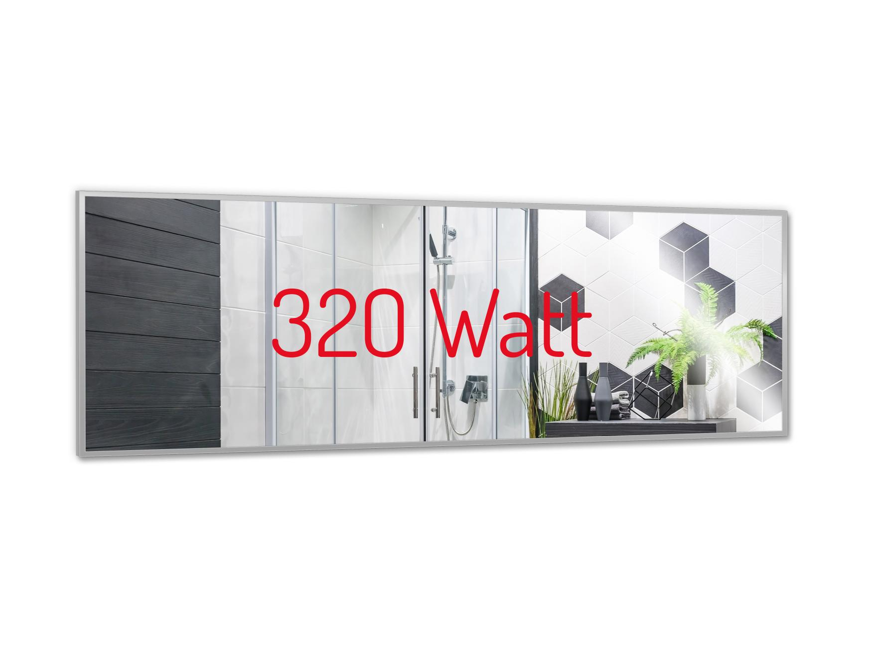 PowerSun Mirror mit Alurahmen 35x120cm