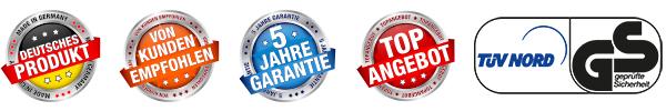 5 Jahre Garantie und TÜV Geprüft