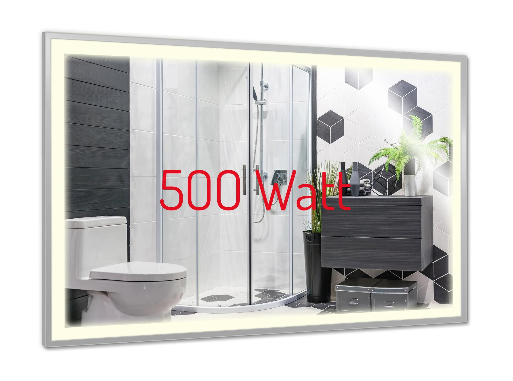 PowerSun Mirror LED mit Chrom-Rahmen 500 Watt