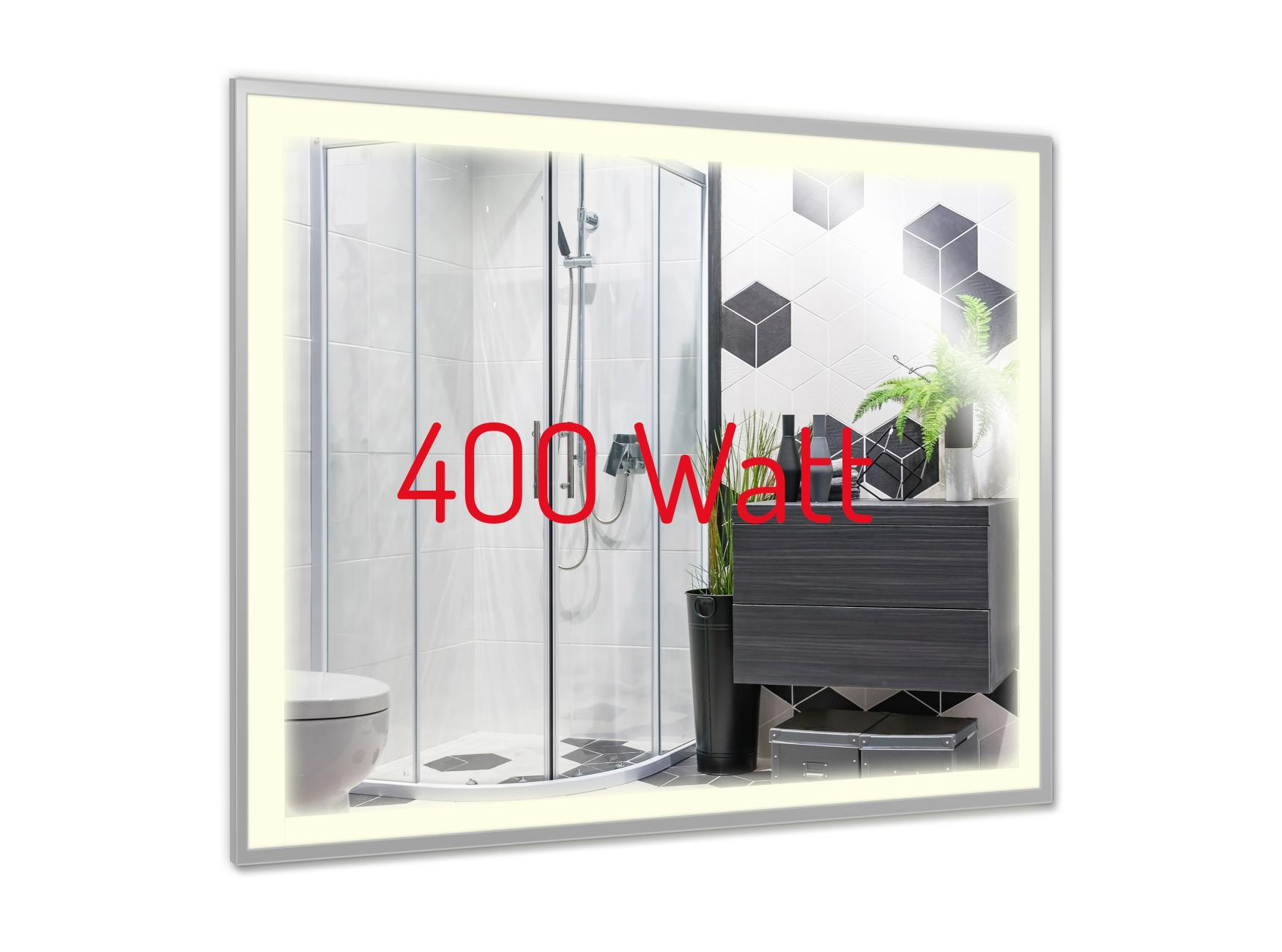 PowerSun Mirror LED mit Chrom-Rahmen 400 Watt