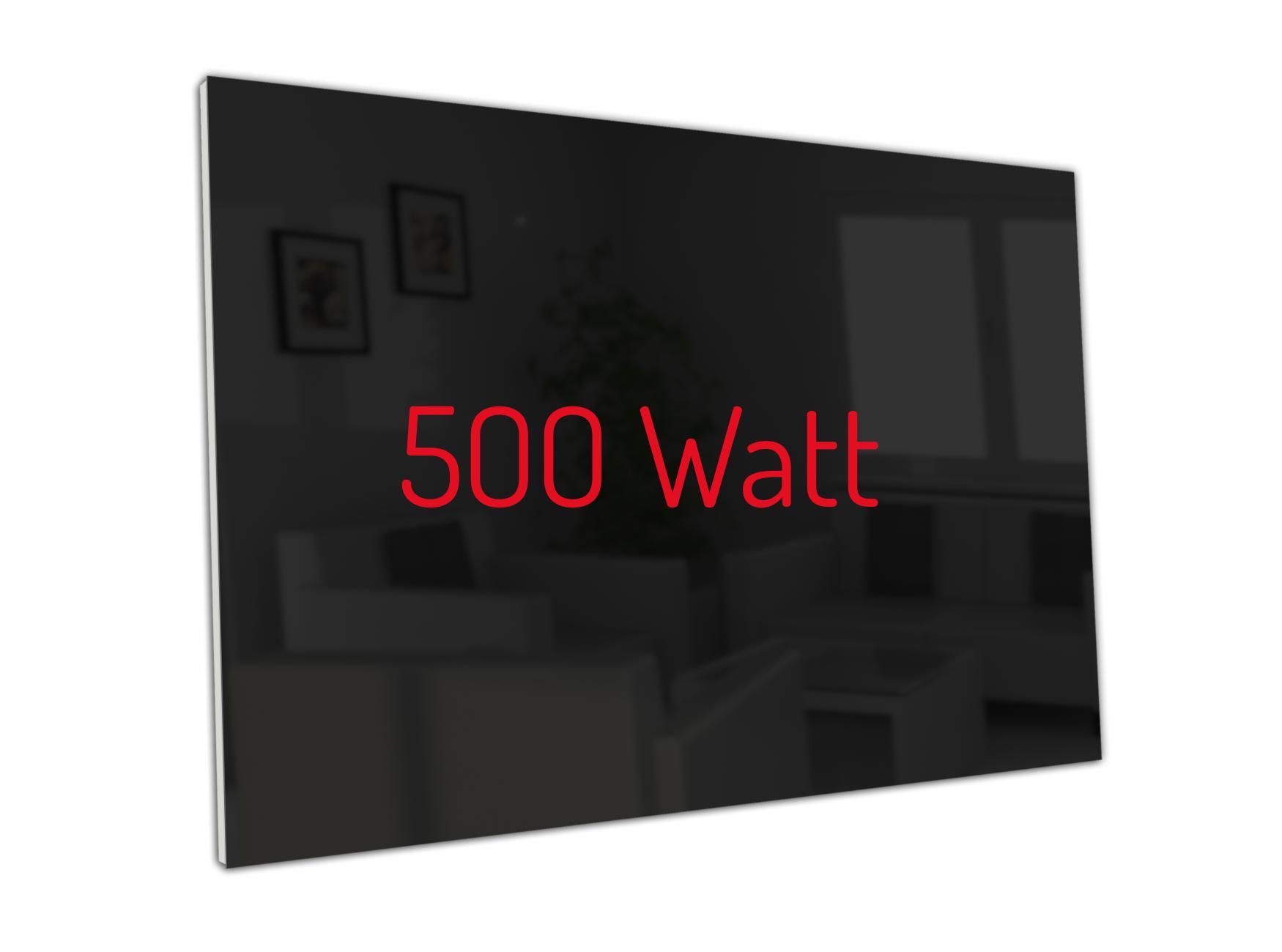 PowerSun Carboglas schwarz 500 Watt 60x90cm