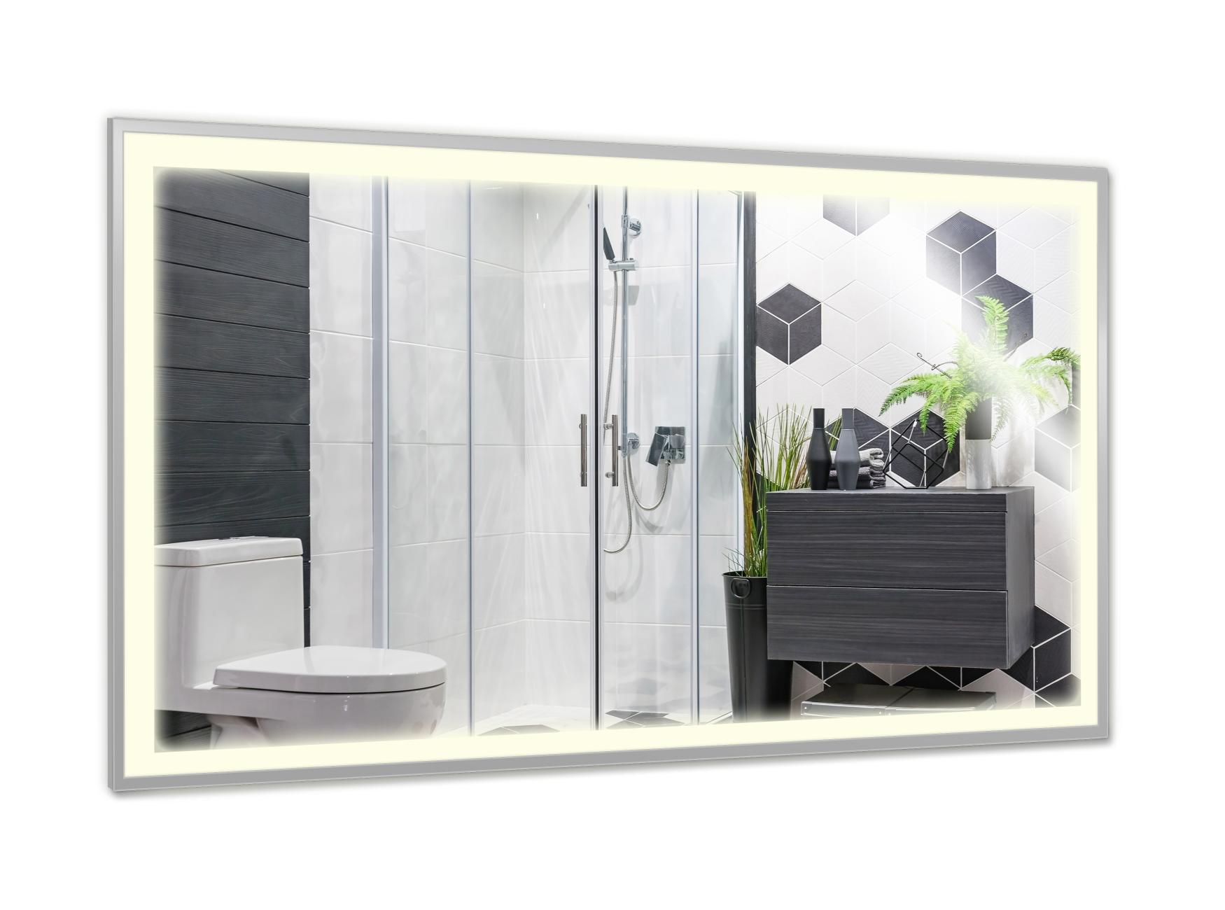 PowerSun Mirror LED mit Chrom-Rahmen 600 Watt